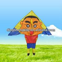 Japanese cartoon image kite-triangle shape
