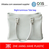 HOT sales cotton coating PVC new designing NIght luminous tote bag