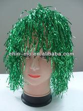 plastic foiled paper party wigs