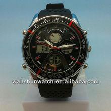 luxury 3atm water resistant sport chronograph digital wrist watch for men