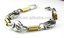 Rose Gold men bracelet,Magnetic buckle mens bracelet