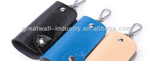 leather key wallet for car key with embossed logo
