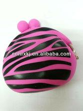 Mundi Zebra Silicone Kisslock Coin Purse