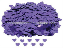 Purple Sparkle Heart Wedding Confetti Table Decoration