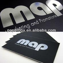 custom logo cotton paper print black card name card