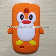 smart penguin Silicon Soft cover Case for Samsung Galaxy Mini S5570
