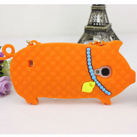 soft cartoon case 3D pig case soft silicone animal design case for samsung galaxy s4 i9500