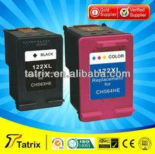 For HP Deskjet F2480 F2483 F2488 Ink Cartridge, 122XL 122 Ink Cartridge for HP Deskjet printer.