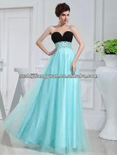 SJ1199 new design custom good quality low price chiffon beaded evening dress