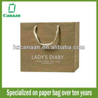 2013 recycled cosmetic kraft paper bags wholesale