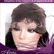 hotsale Brazilian soft human hair full swiss lace cap