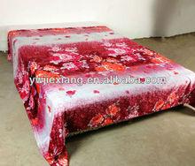 knitted polyester adult super soft printing microfiber flannel sheet blanket/bed sheet/ fleece blanket