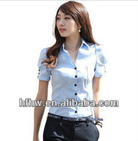 2013 SUMMER NEWEST HAN EDITION PUFF SHORT SLEEVE FASHION BEAUTIFUL OL LADIES'S BLOUSES
