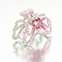Yueya beauty hair claws high quality crystal butterfly shape full stone hair claws