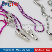 Supply Autoclavable Clips for bibs Metal Clip Type, Small Metal Clips