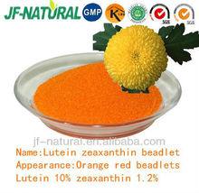 Lutein 10% zeaxanthin 1.2% beadlet marigold flower extract