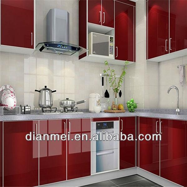 L- en forma de moderno gabinete de cocina hecha en china