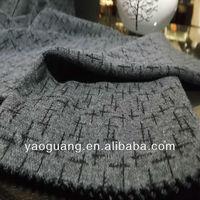 Yarn dye knit tr jacquard fabric