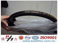 single fibre braid,rubber covered hydraulic hoses R6