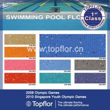 Waterproof antiskid pvc sports flooring around swimming pool