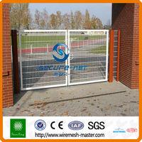 galvanized double swing iron gate