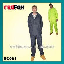 adults PU coated nylon waterproof rain coat