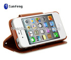 Book Style Leather Case For Iphone 4/Mobile Phone Flip Leather Case For Iphone4s/Mobile Phone Leather Cases