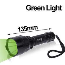 UltraFire C8 Green Light 120lm 5-mode LED Flashlight
