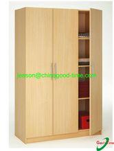 beech color wardrobe shelf/KD wardrobe