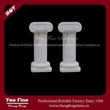 attractive white marble column craft