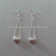 fashion lady heart shaped alloy dangle earring