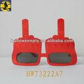 moda plástico vermelho forma de dedo brinquedo óculos