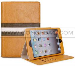 2014 CONCHBAG! stand case for ipad mini3,stripes splice style pu case for ipad mini 3