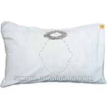 fireproof design decorative elegant white cushion cover funny sleeping pillows case