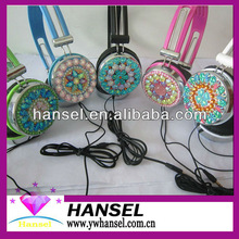 Totally Handcraft Luxury Crystal Effect Bling Stereo Headphone