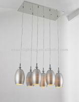 modern european Antique silver Kitchen pendant lighting