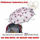 Stroller clamp on umbrella