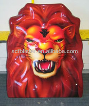 Vacuum formed printing lion face