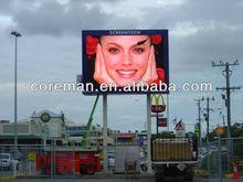 french alibaba coreman.cc roadeside,street advertising small big led board / led ad board full color