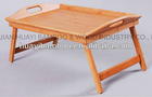 bamboo breakfast bed tray with handle, foldable legs