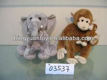 plush animal toys elephant and monkey