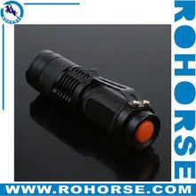 Mini LED Torch 7W 300LM CREE Q5 LED Flashlight Adjustable Focus Zoom flash Light Lamp