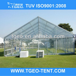 20m grass land garden party transparent PVC tent marquee