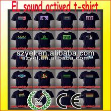 Top quality brand new EL equalizer tshirt / led t-shirt / EL sound actived t-shirt