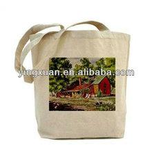 100% Organic Cotton Canvas Tote Bag ,New popular eco-friendly cotton shopping bag