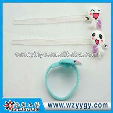 Custom soft pvc flexible cable ties, new design PVC adjustable zip tie