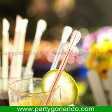 Hot selling 6.0x230mm neon plastic spoon straw straws