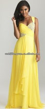 SJ1211 new design custom good quality low price chiffon beaded chiffon dresses 2012 summer