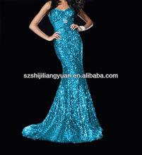 SJ1212 new design custom good quality low price chiffon beaded sequin dresses long