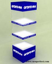 lastest square acrylic advertising window display
